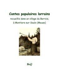 Contes populaires lorrains - La Bibliothèque électronique du Québec