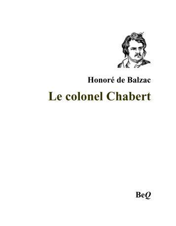 Le colonel Chabert - La Bibliothèque électronique du Québec