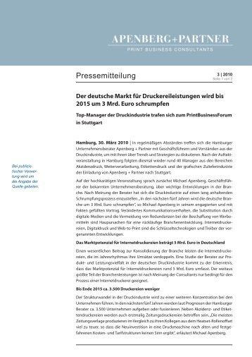 Der deutsche Markt für Druckereileistungen wird bis 2015 um 3 Mrd ...