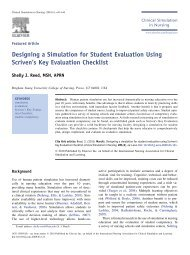 Designing a Simulation for Student Evaluation Using Scriven's Key ...