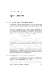 Signals, Systems and Inference, Chapter 14: Signal Detection