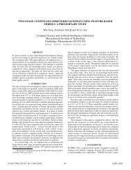 Two-Stage Continuous Speech Recognition Using Feature-Based ...
