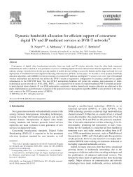 Dynamic bandwidth allocation for efficient support of concurrent ...