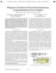 Mitigation of Unknown Narrowband Interference Using ...