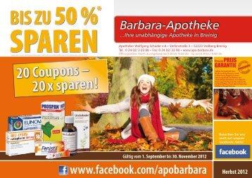 COUPON! - Barbara Apotheke