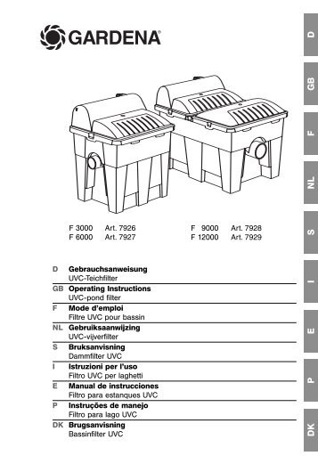 Instructions de service - GARDENA