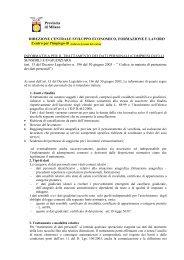 Informativa per il trattamento dei dati personali - Provincia di Milano