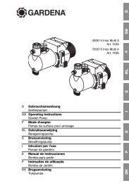 Instructies voor gebruik - GARDENA
