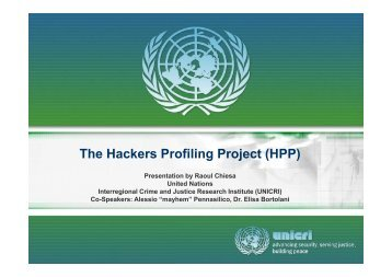 The Hackers Profiling Project (HPP) - Proidea