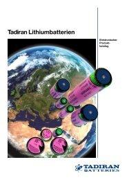 Elektronischer Produktkatalog - Tadiran Batteries GmbH
