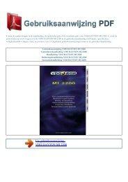 Gebruiksaanwijzing VDO DAYTON MI 2200