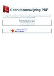 Gebruiksaanwijzing SONY CFD-S28L - GEBRUIKSAANWIJZING PDF