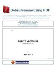 Gebruiksaanwijzing SUUNTO VECTOR HR