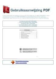 SE20XMFR8 - GEBRUIKSAANWIJZING PDF