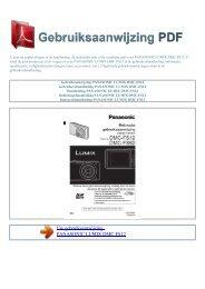lumix dmc-fs12 - GEBRUIKSAANWIJZING PDF