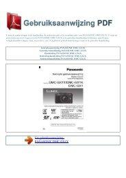 DMC-GX1X - GEBRUIKSAANWIJZING PDF