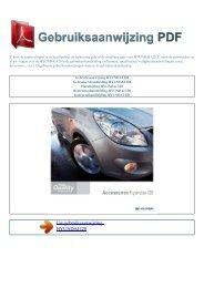 Gebruiksaanwijzing HYUNDAI I20 - GEBRUIKSAANWIJZING PDF