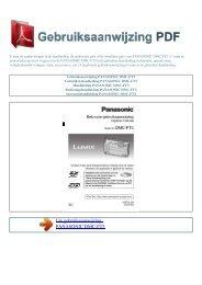 DMC-FT3 - GEBRUIKSAANWIJZING PDF