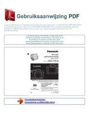 lumix dmc-fz18 - GEBRUIKSAANWIJZING PDF