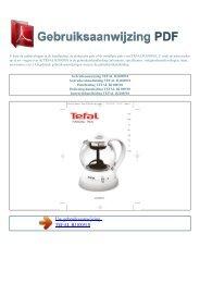 Gebruiksaanwijzing TEFAL BJ100510 - GEBRUIKSAANWIJZING PDF