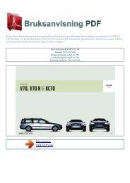 Instruktionsbok VOLVO V90 - BRUKSANVISNING PDF