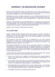 Hoofdstuk I. De Administratie verandert - Fiscus.fgov.be