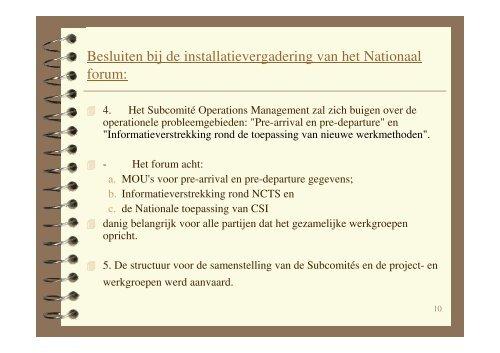 (Microsoft PowerPoint - Besluiten Strategisch Comit\351 05-02-2003 ...