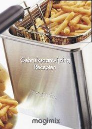 Gebruiksaanwijzing Recepten - Vanden Borre