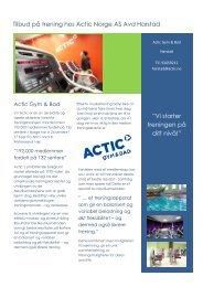 Info fra Actic Harstad - Ansatte