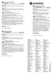 OM, Gardena, Anti Algae, Art 07921-20, 2004-01, ES, DK, DE, EN ...