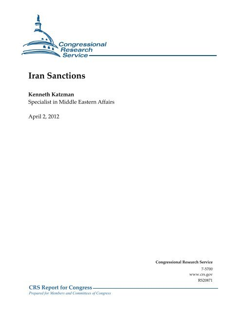 Iran Sanctions - Foreign Press Centers