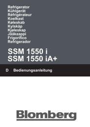 SSM 1550 i SSM 1550 iA+ - Blomberg