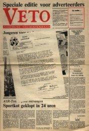 Speciale 'editie voor adve,rteerders - archief van Veto
