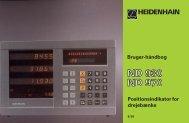 Bruger-håndbog ND 930, ND 970 - heidenhain