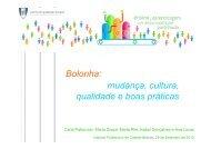 Bolonha: mudança, cultura, qualidade e boas práticas