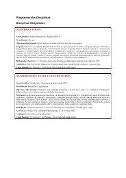 Programas das Disciplinas ÁLGEBRA LINEAR ALGORITMOS E ...