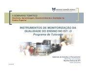 INSTRUMENTOS DE MONITORIZAÇÃO DA QUALIDADE DO ...