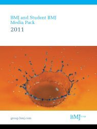 BMJ and Student BMJ Media Pack 2011 - BMJ Group
