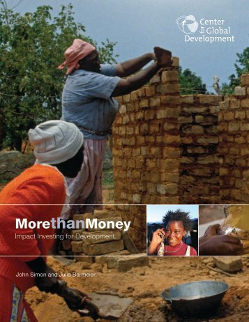 More than Money - Center for Global Development