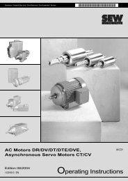 Operating instructions AC motors DR/DV/DT/DTE/DVE ...