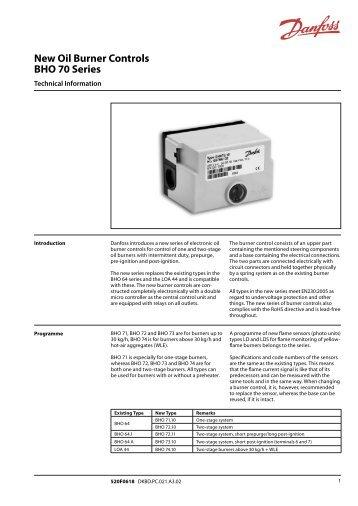 danfoss heating controls instructions
