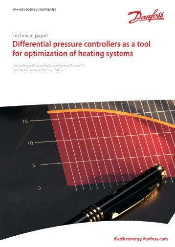 Differential pressure controllers as a tool for ... - Danfoss.com