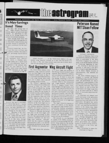 First Augmentor Wing Aircraft Flight - NASA Ames History Office