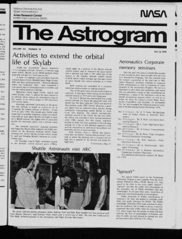 life of Skylab - NASA Ames History Office