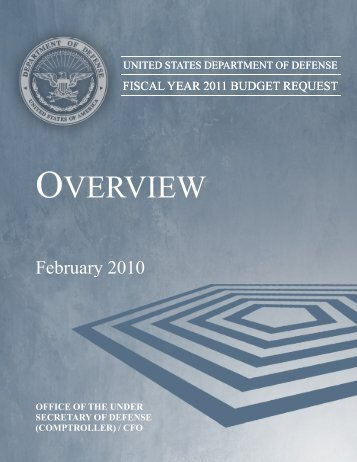 OVERVIEW W - Office of the Under Secretary of Defense (Comptroller)