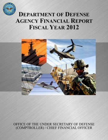 department of defense agency financial report fiscal year 2012