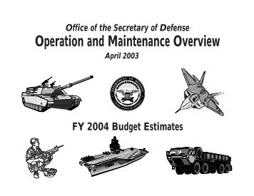 Operation and Maintenance Overview - Comptroller