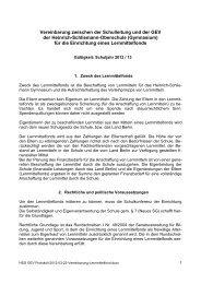 Vereinbarung-Lernmittelfond - Heinrich Schliemann Gymnasium