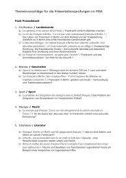 Themenvorschläge für die Präsentationsprüfungen im MSA