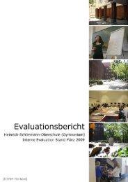Interne Evaluation Evaluationsbericht der Steuergruppe